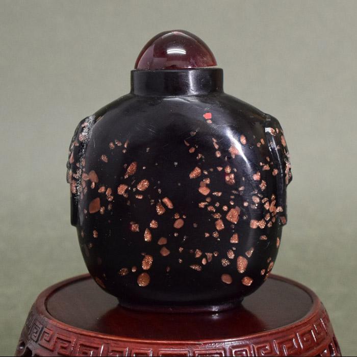 漆黒の中にきらめく星鼻煙壺181002鼻煙壷 鼻煙壺 中国 芸術 シノワズリー インテリア コレクション 嗅ぎたばこ入れ アンティーク 小物 コレクター 垂涎