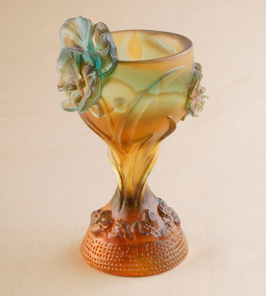 華麗なるクリスタルアートの世界「琉璃・酒杯」1