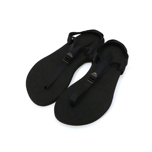 foot the coacher【フットザコーチャー】-BAREFOOT SANDALS / thick sole (BLACK)【ベアフットサンダル】