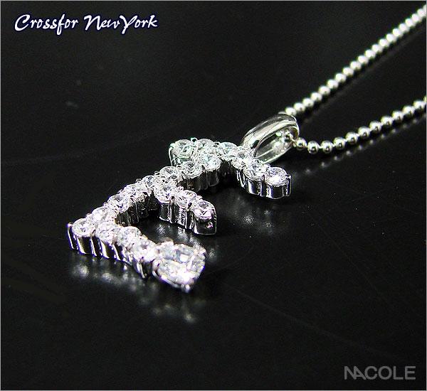 クロスフォーニューヨーク イニシャルネックレス「E」(内祝い 結婚祝い ギフト 出産祝い お誕生日プレゼント 記念日 贈り物 ギフト)(お買い物マラソンセール キャッシュレス5%還元)
