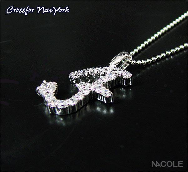 クロスフォーニューヨーク イニシャルネックレス「F」(内祝い 結婚祝い ギフト 出産祝い お誕生日プレゼント 記念日 贈り物 ギフト)(キャッシュレス5%還元)