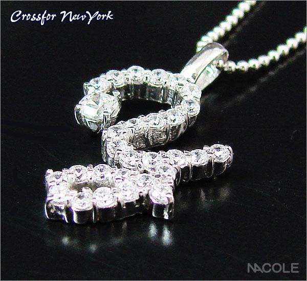 クロスフォーニューヨーク イニシャルネックレス「Y」(内祝い 結婚祝い ギフト 出産祝い お誕生日プレゼント 記念日 贈り物 ギフト)(キャッシュレス5%還元)