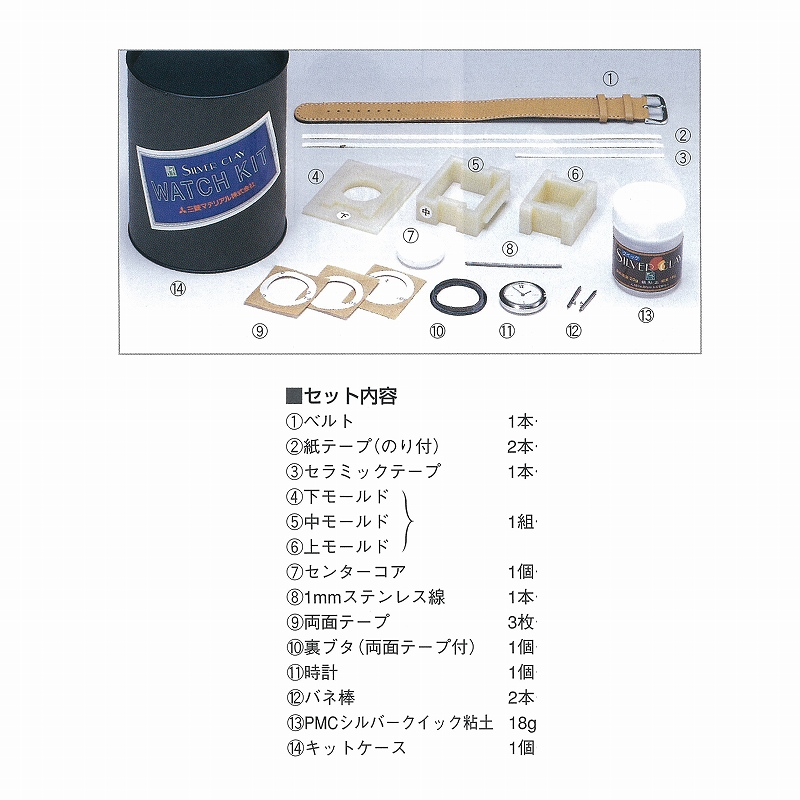 銀粘土で作る時計キット