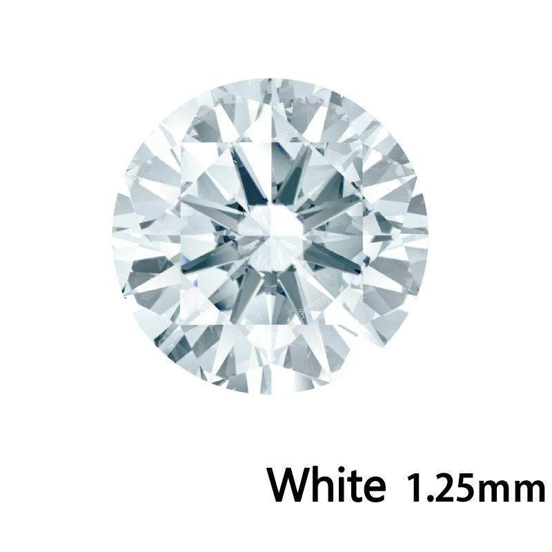 SWV(スワロフスキー) CZ RD ホワイト LE(刻印あり) 1.25mm 1000pcs