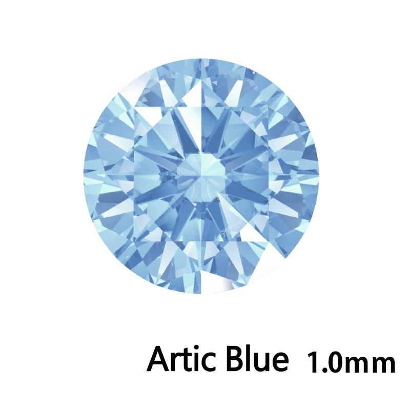 SWV(スワロフスキー) CZ RD Arc.ブルー LE(刻印あり) 1.0mm 1000pcs
