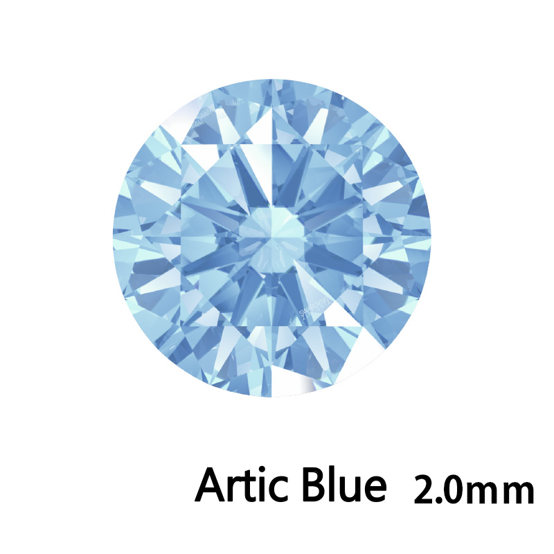 SWV(スワロフスキー) CZ RD Arc.ブルー LE(刻印あり) 2.0mm 500pcs