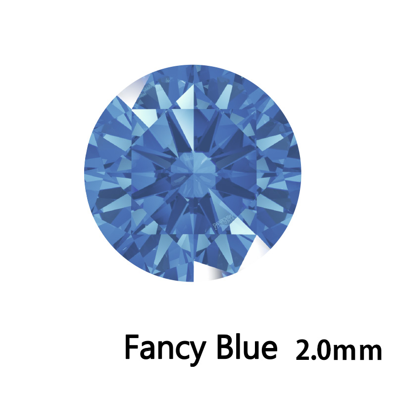 SWV(スワロフスキー) CZ RD F.ブルー LE(刻印あり) 2.0mm 500pcs