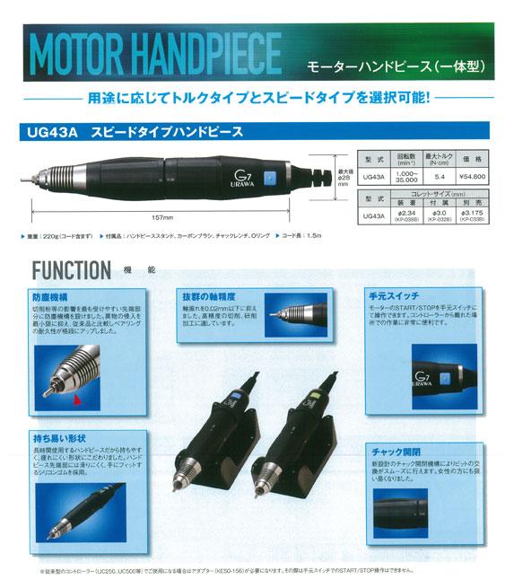 URAWA(ウラワ)G7用 スタンダードハンドピースUG43A