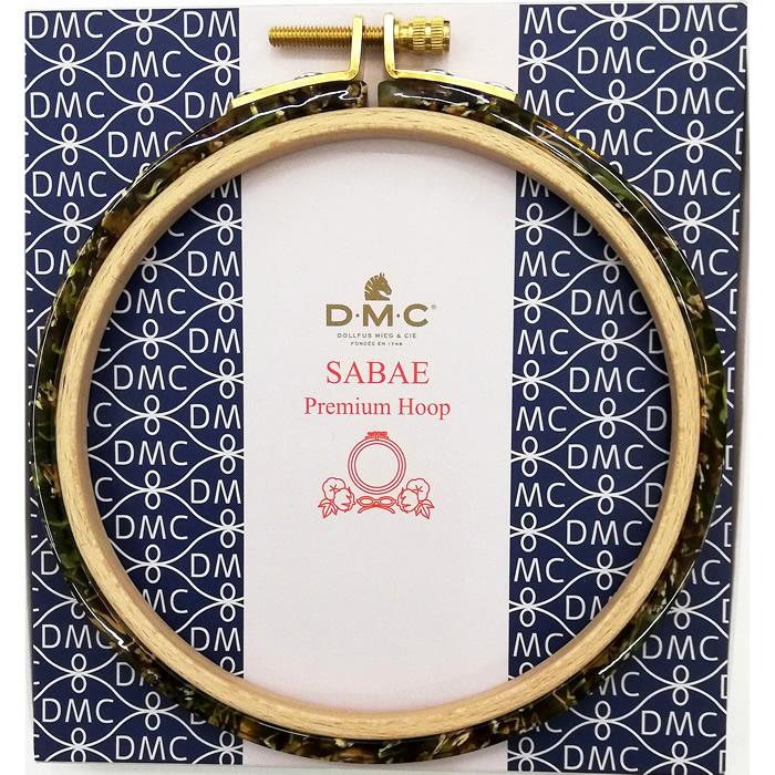 DMC 刺繍枠 めがねの町 鯖江の職人の技術とフランスDMCのコラボでカラフルで美しい独特の風合いをお楽しみください 鯖江 SABAE SABAEプレミアムフープ Premium Hoop BR×GR 再入荷 予約販売 上等 刺しゅう枠