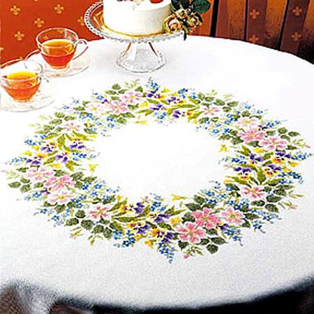 刺繍キット テーブルクロス円形