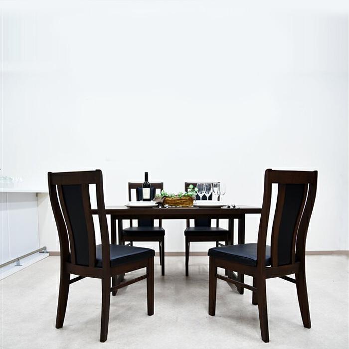 【送料無料】 ダイニングテーブルセット 幅135cm ウォールナット 5点セット 木製 4人用 ダイニング5点セット 4人掛け ダイニングテーブル 無垢 ダイニングチェアー 北欧 シンプル
