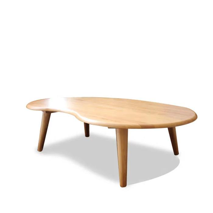 センターテーブル 幅120cm 木製 アルダー 無垢 リビングテーブル 食卓 デザイナー オシャレ カフェ モダン ナチュラル 丸脚 テーブル 食卓テーブル