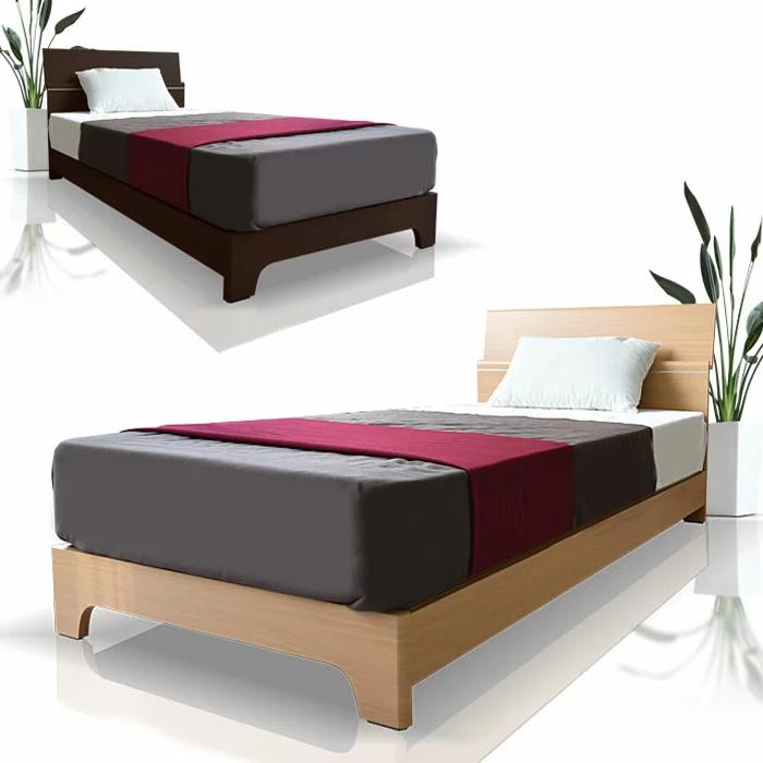 【送料無料】ベッド シングル フレーム 収納 木製 LEDライト ベッドフレーム シングルサイズ シングルベッド ライト付き コンセント付き 寝室 木目柄 モダン ナチュラル *マットレスは別売りです。