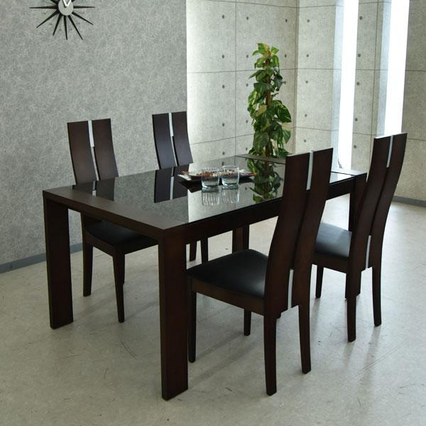 【クーポン配布中】ダイニングテーブルセット ダイニングセット 伸縮式 ダイニング 食卓テーブル セット幅150cm~210cm ダイニング5点セット 食卓セット シンプル 4人掛け 4人用 テーブル いす イス 椅子 4脚 木製 無垢 強化ガラス 北欧