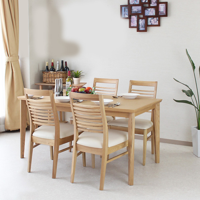 140 Cm Dining Table Set Dining Set Dining 5 Points Set Tamo Ash Dining  Chairs Dining Tables Dining Table Dining Table Set 4 Seat Tables Chairs  Chairs Chairs ...