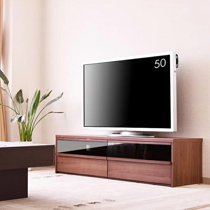 テレビボード 幅150cm TVボード ウォールナット オーク レビ台 リビング リビングボード 大型 ロータイプ TV台 AVボード AV収納 家具通販 大川の家具