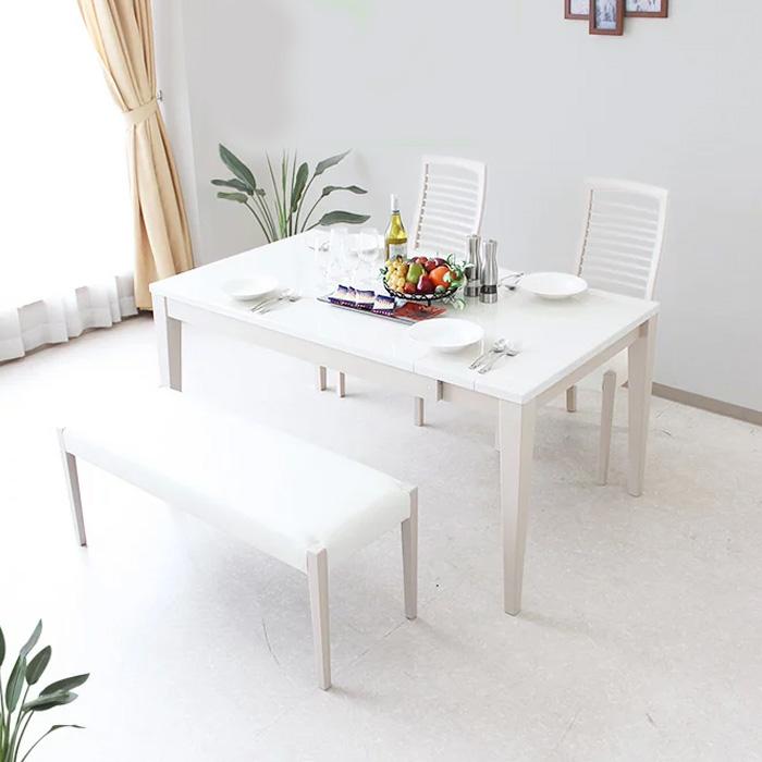 ダイニングセット 幅130 150 190 180 ダイニングテーブル 4点セット ダイニングテーブルセットブラック ホワイト 艶 光沢 モダン ミッドセンチュリー 食卓 ダイニング リビングテーブル 4人用 北欧 シンプル 家具通販