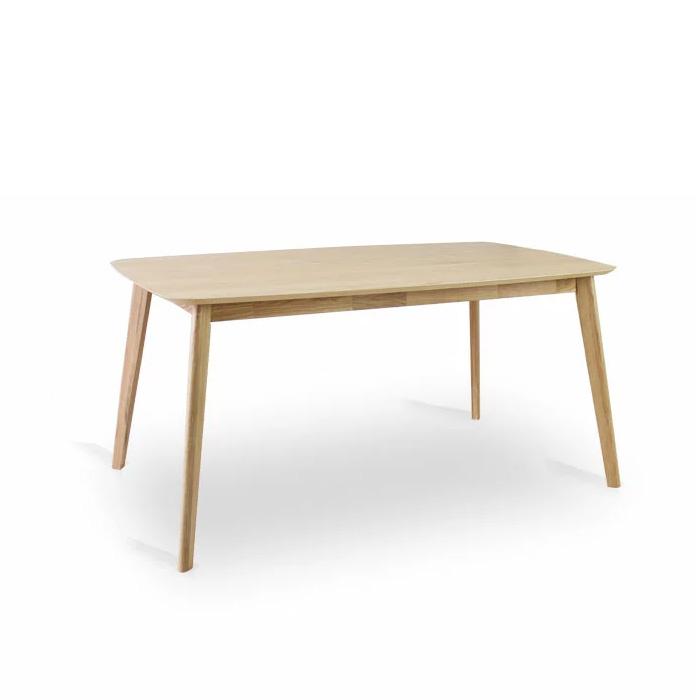 【クーポンSALE開催中】ダイニングテーブル 幅150cm 無垢 北欧 木製 オーク ダイニングテーブル 食卓 モダン ナチュラル