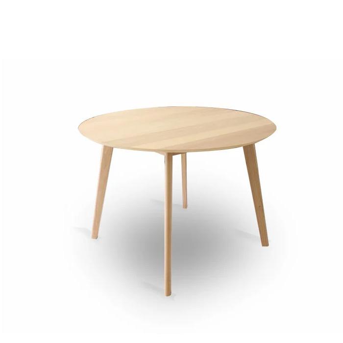 【クーポンSALE開催中】ダイニングテーブル 幅107cm 丸 無垢 北欧 木製 オーク ダイニングテーブル 食卓 モダン ナチュラル