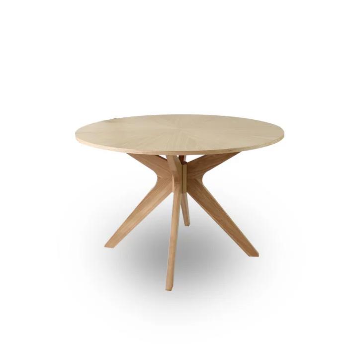 【クーポン配布中】ダイニングテーブル 幅110cm 丸 無垢 北欧 木製 オーク ダイニングテーブル 食卓 モダン ナチュラル