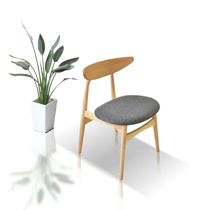 【送料無料】ダイニングチェアー 木製 完成品 2脚セット 椅子 チェアー 布座面 板座面 シンプル 北欧