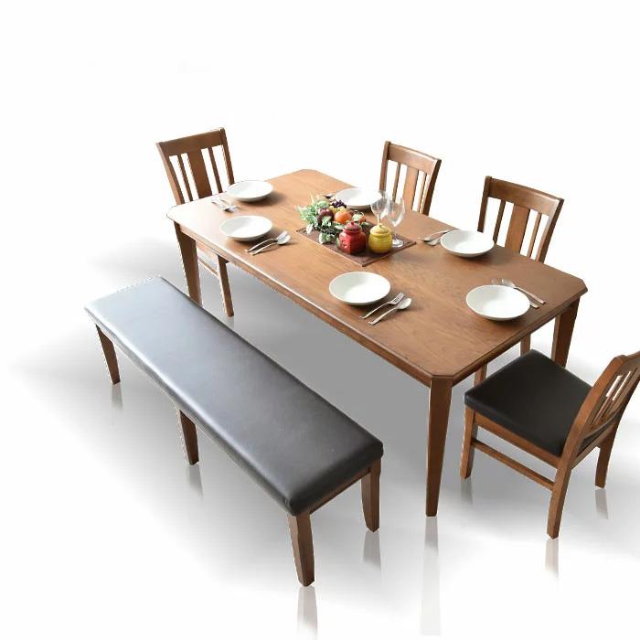 【クーポンSALE開催中】ダイニングテーブルセット 180cm ダイニングセット ダイニング6点セット 6人掛け ダイニングチェア ダイニングテーブル 食卓 食卓セット テーブル チェア 椅子 イス シンプル レトロテイスト 板座面 PVC座面