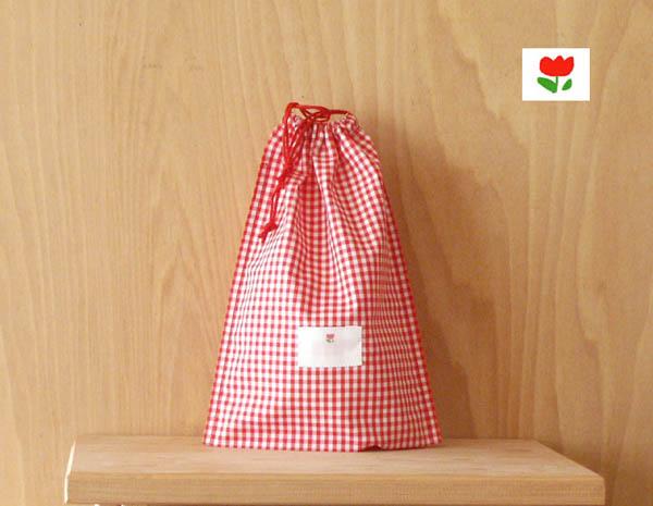 氏名票つきはし袋 新商品 激安価格と即納で通信販売 Lサイズランチョンマットとはし箱がいっしょに入れられます赤と白のギンガムチェックt2