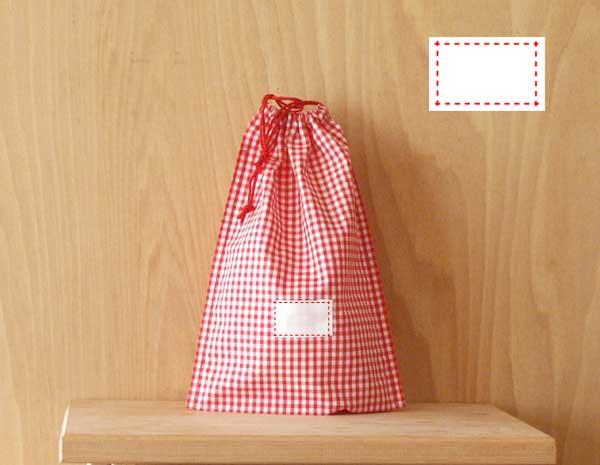 氏名票つきはし袋 おしゃれ タイムセール Lサイズランチョンマットとはし箱がいっしょに入れられます赤と白のギンガムチェックf2