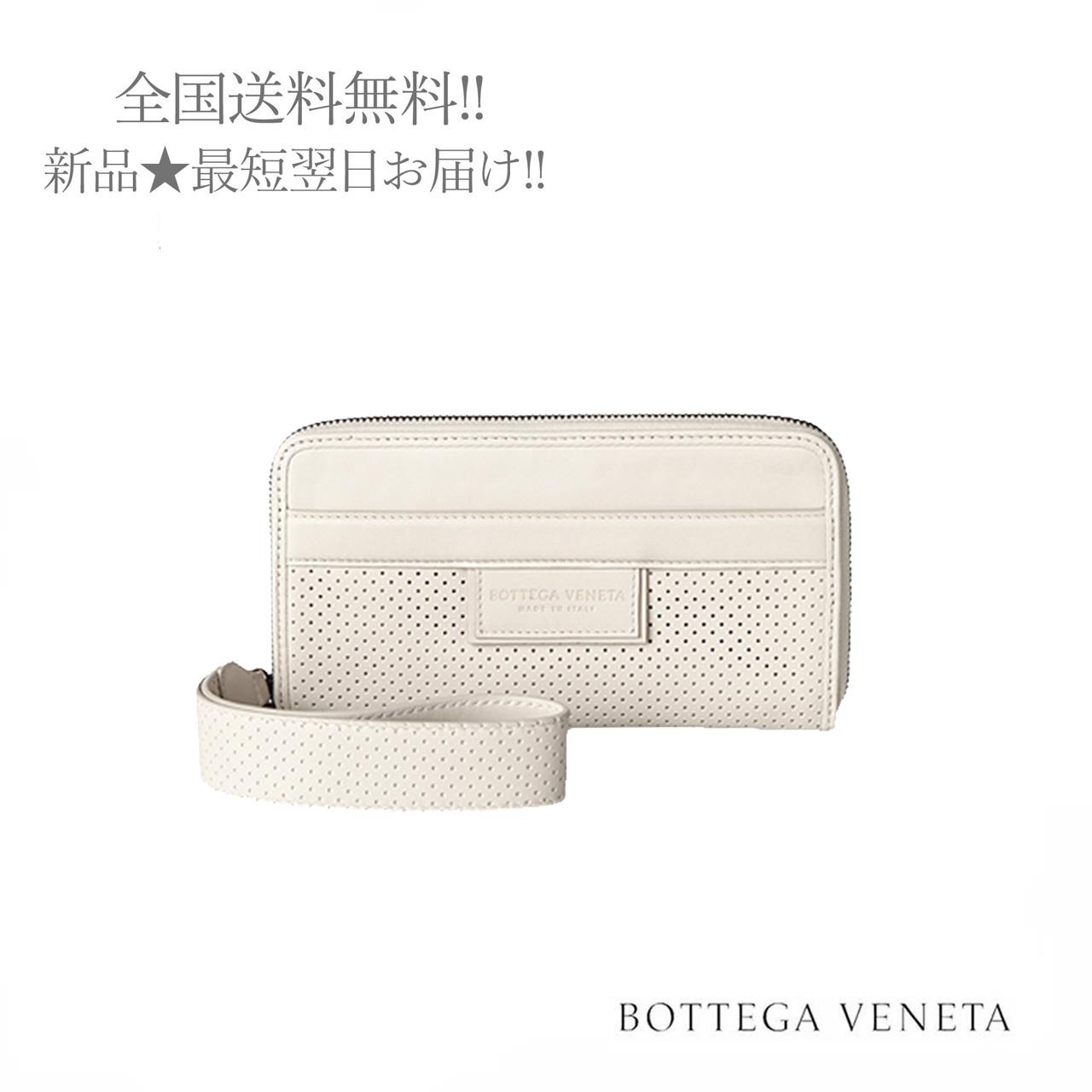 BOTTEGA お金を節約 VENETA ボッテガ ヴェネタ 長財布 ジップアラウンドウォレット ハンドストラップ付 1909 付与 ミスト 女 レディース 新品 イタリア製