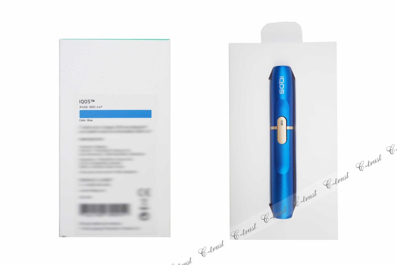 IQOS 2.4plus アイコス 専用箱入 ホルダー 限定 ブルー BLUE 加熱式タバコ 電子タバコ 欧州 正規品 新品 未開封