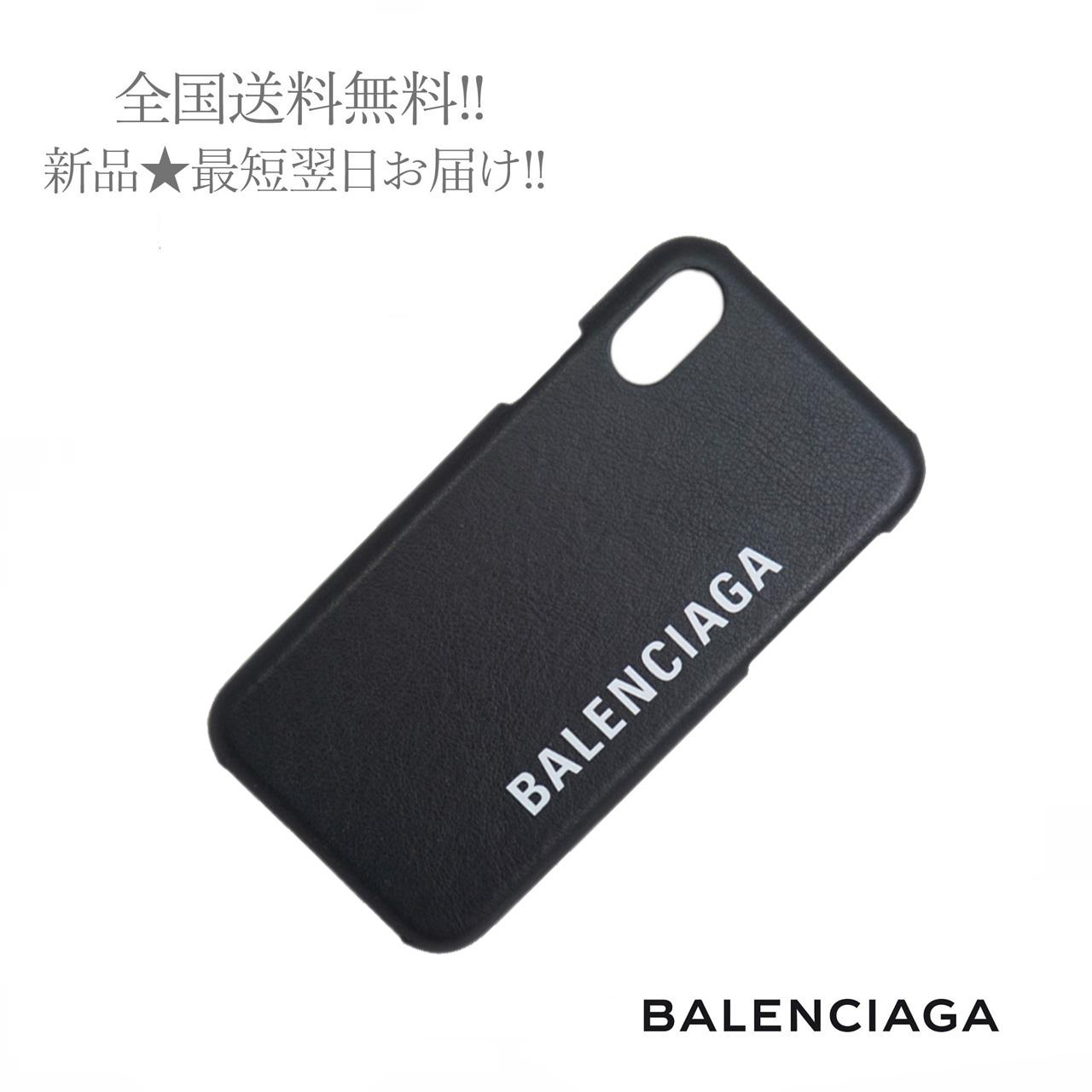 BALENCIAGA 低価格 バレンシアガ ロゴ Iphone 高い素材 X スモアホ ケース アイフォン メンズ ユニセックス レディース兼用 アップル 新品 男 ブラック 女