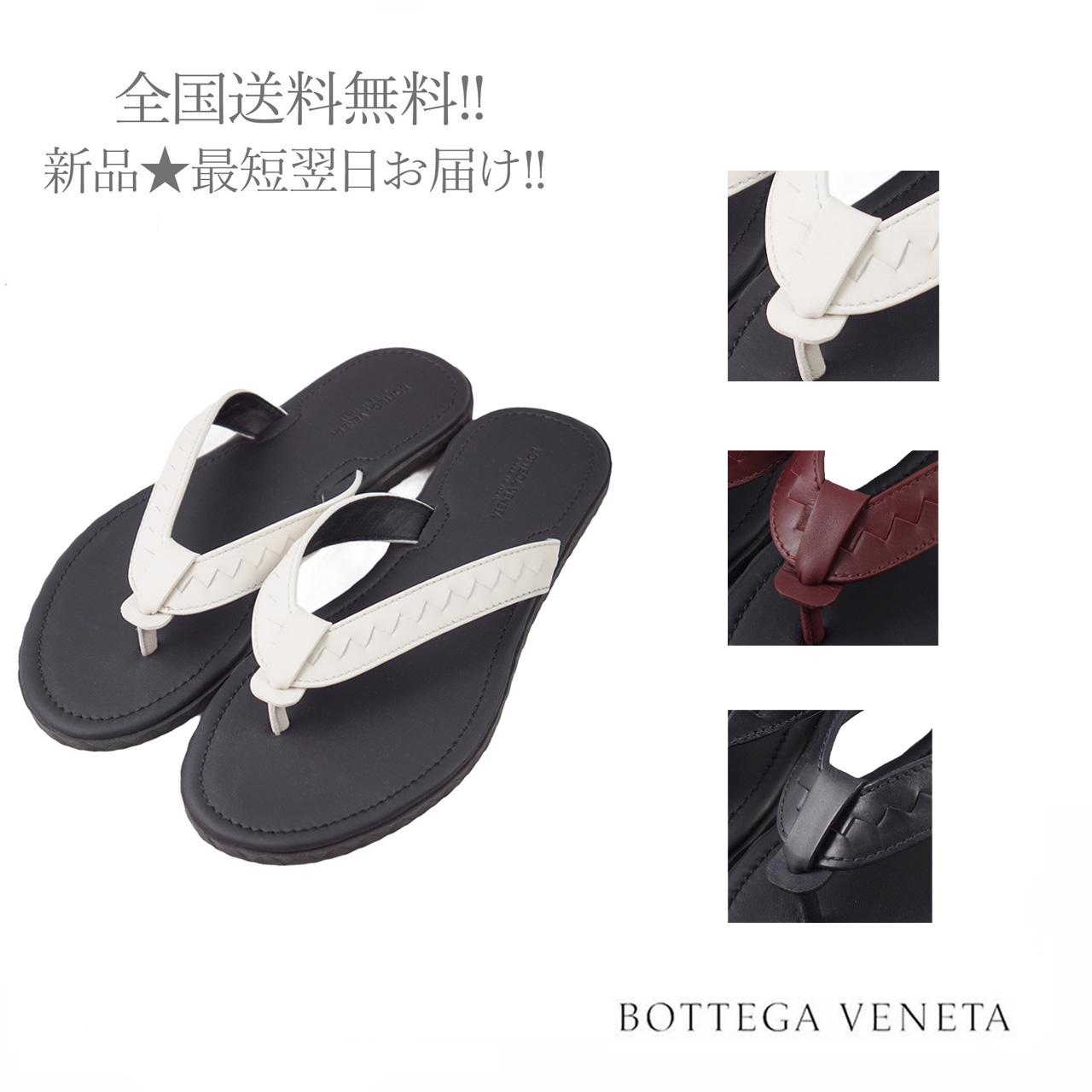 BOTTEGA VENETA ボッテガヴェネタ イタリア製 レザー サンダル メンズ イントレ 送料無料/新品 格安店 新品 男