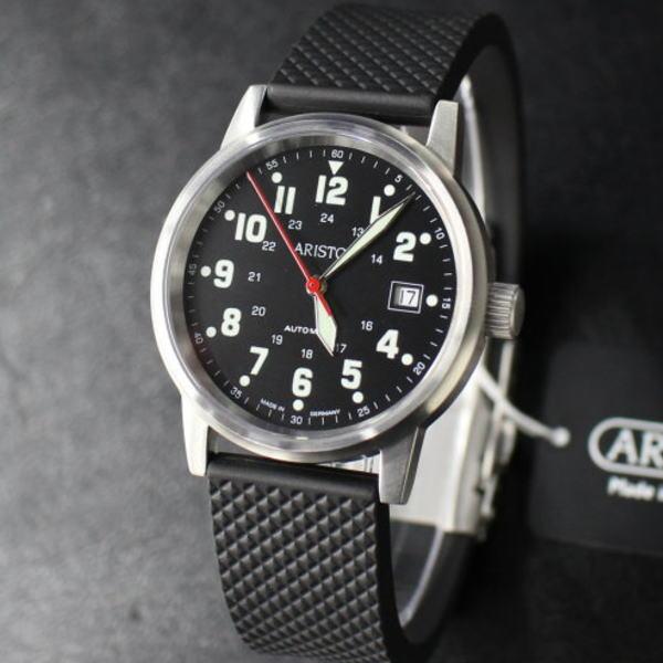 アリスト Aristo ドイツ時計 自動巻き ETA2824 パイロットウォッチ 3H11 Limited BCラバーベルトモデル メンズ 腕時計 ブランド