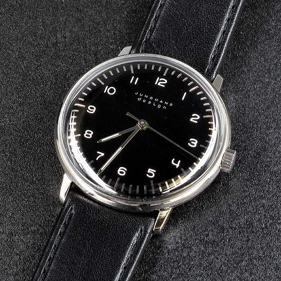 ユンハンス マックスビル 手巻き 027370200 ブラック ドイツ製 バウハウス ドイツ時計 腕時計 メンズ ブランド 当店人気 おすすめ おしゃれ トレンド 節分 誕生日