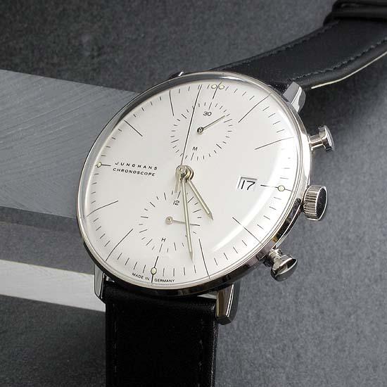 ユンハンス マックスビル クロノスコープ オートマチック 027460000 ドイツ製 バウハウス ドイツ時計 腕時計 メンズ ブランド