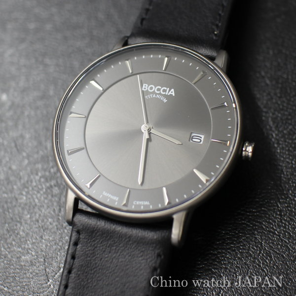 BOCCIA TITANIUM ボッチア チタニュウム 腕時計 3607-01 メンズ クォーツ ドイツ時計 送料無料 ブランド