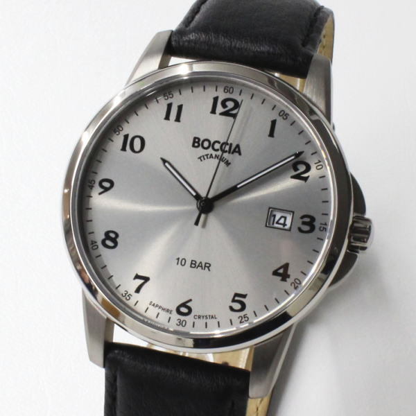 BOCCIA TITANIUM ボッチア チタニュウム 腕時計 3633-03 メンズ クォーツ ドイツ時計 送料無料 ブランド