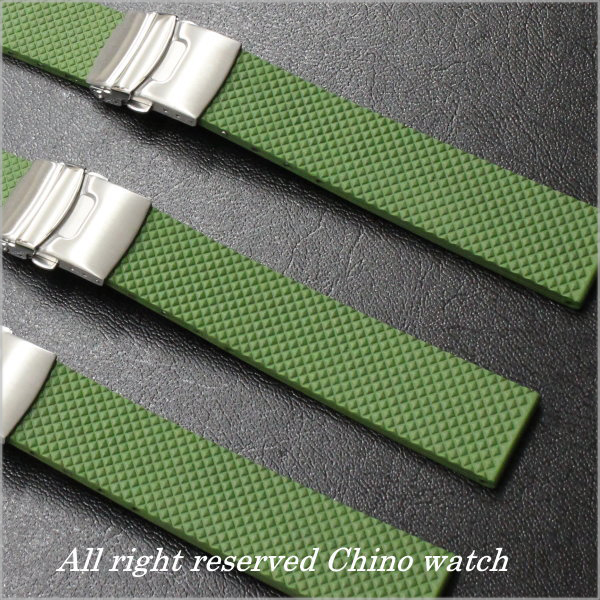 20 millimeters of rubber べ ルト D buckle model military green size made in Italy natural rubber material use is comfortable and is kind to skin!