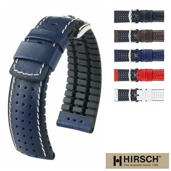 HIRSCH 腕時計ベルト ヒルシュ タイガー 18mm 20mm 22mm 24mm バンド ラバーベルト ラバーバンド 送料無料