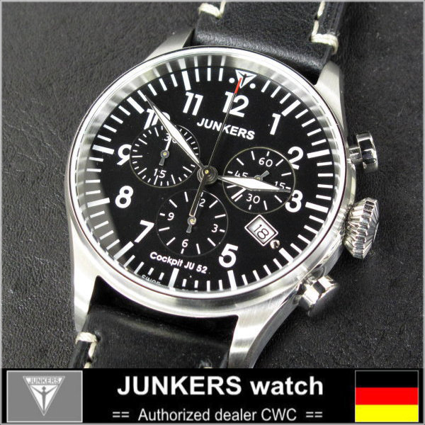 Junkers-JUNKERS quartz chronograph BLK watch watches
