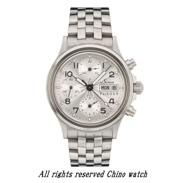 国内正規品 Sinn ジン 腕時計 356.SA.FLIEGER.3 ブレスモデル クロノグラフ 2年保証 自動巻き 時計 送料無料