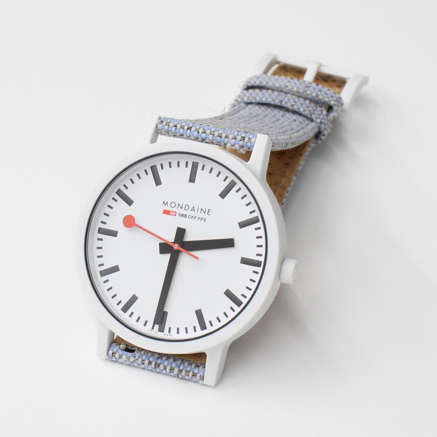 NEW MONDAINE essence モンディーン エッセンス 直径41mm WHITEケース MS1.41110.LD 付け替えストラップ付き スイス鉄道時計 腕時計 時計 メンズ ブランド