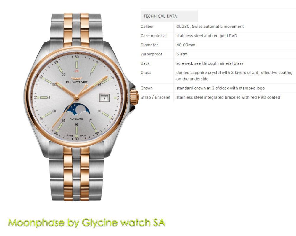 グリシン コンバット ムーンフェイズ GL0192 combi 40mm 自動巻き GLYCINE 腕時計 メンズ ブランド