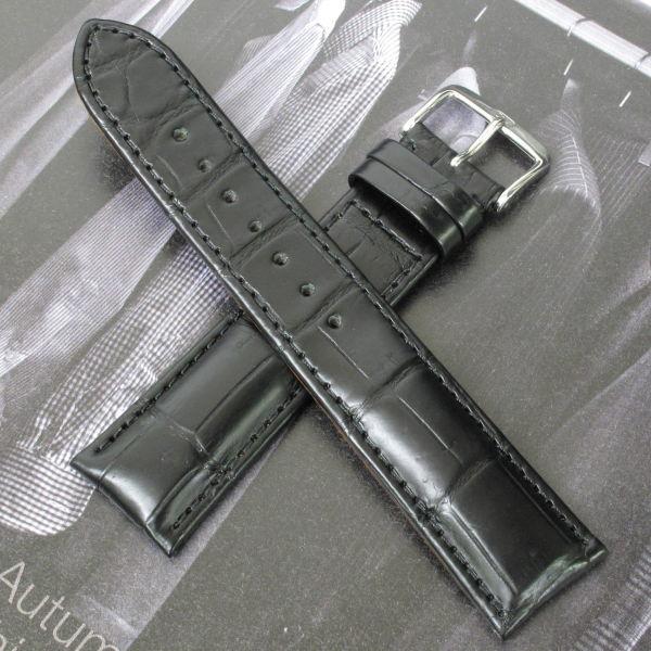 ドイツ製 Di-Modell 手縫い 両面アリゲーター時計ベルト 最上級品
