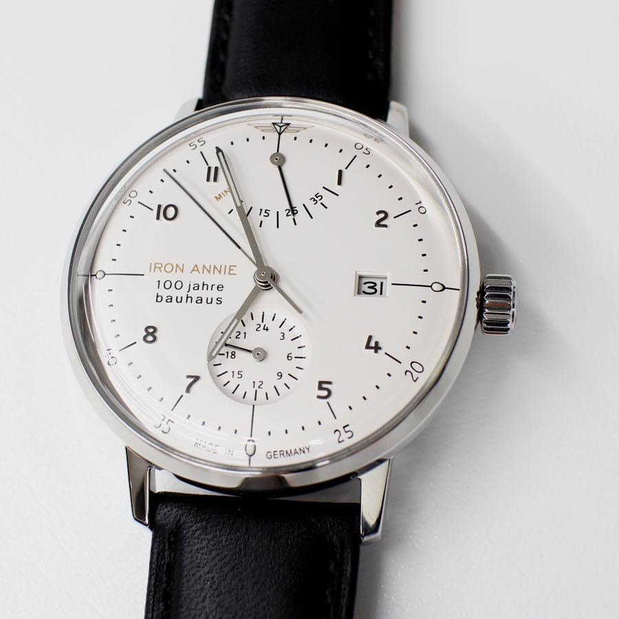 ドイツ製 アイアンアニー IRON ANNIE バウハウス 100周年記念 流通限定モデル 5066-1AT WHITE 自動巻き ドイツ時計 腕時計 送料無料 メンズ ブランド