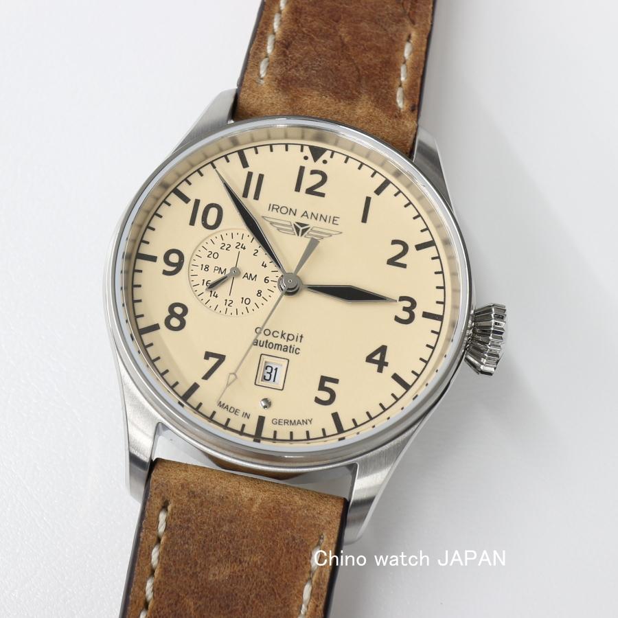 Iron Annie ドイツ製 アイアンアニー 5168-5AT 24Hour計付き 自動巻き 腕時計 送料無料 メンズ ブランド