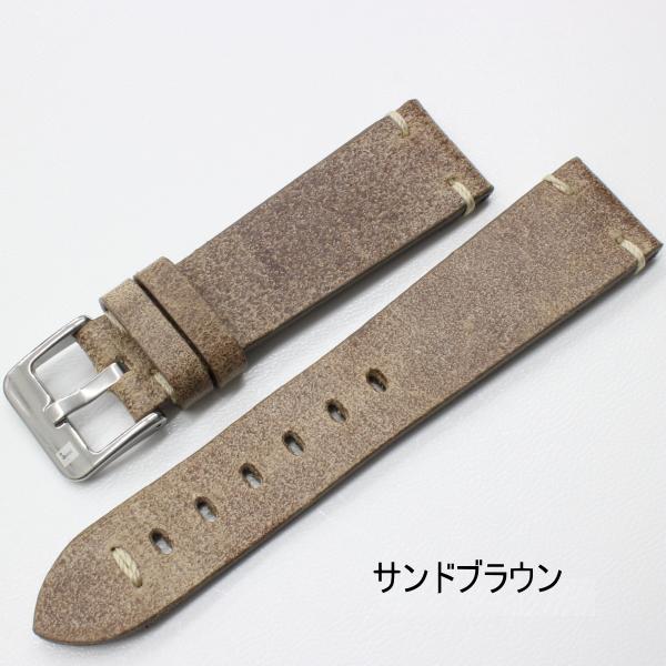 イタリア製 ヴィンテージレザー 時計ベルト コラレブ フィレンツェ 20/22ミリ サンドブラウン