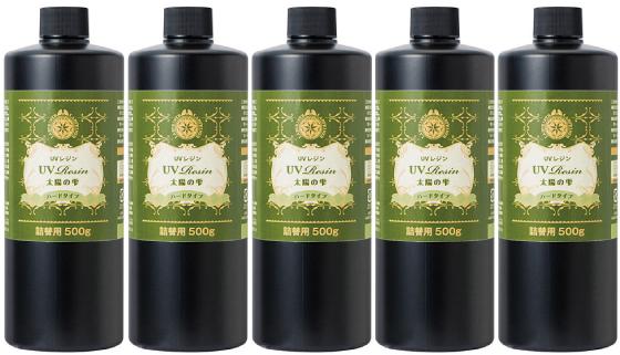 パジコ UVレジン 太陽の雫 詰替用 ハードタイプ 500g 5本セット UVレジン液 PADICO 大容量