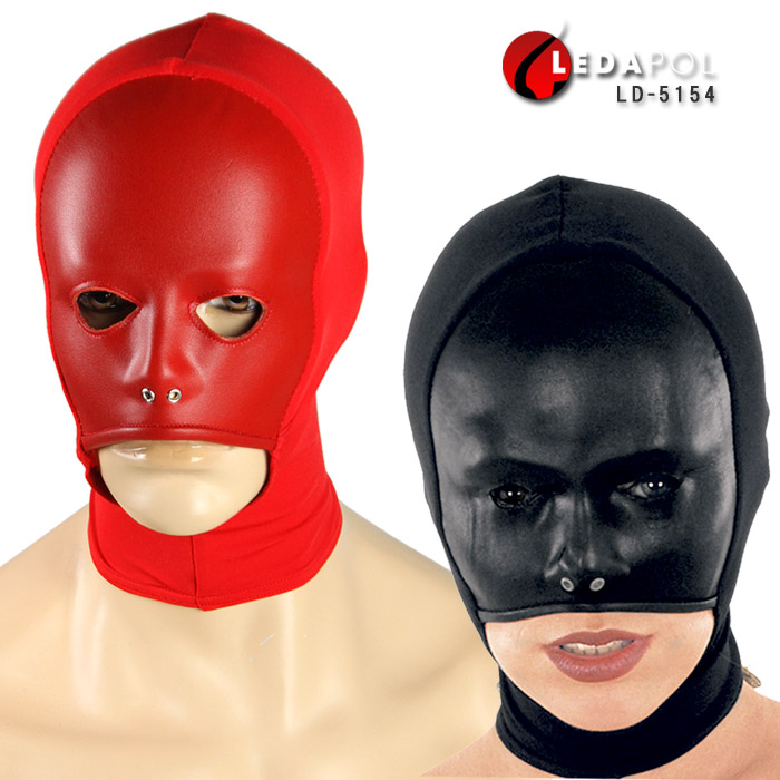 コスプレ用 全頭マスク かぶりもの(覆面 面白) 黒 赤 ビジュアル系 パンクロック系 パーティーグッズ ライブ 衣装