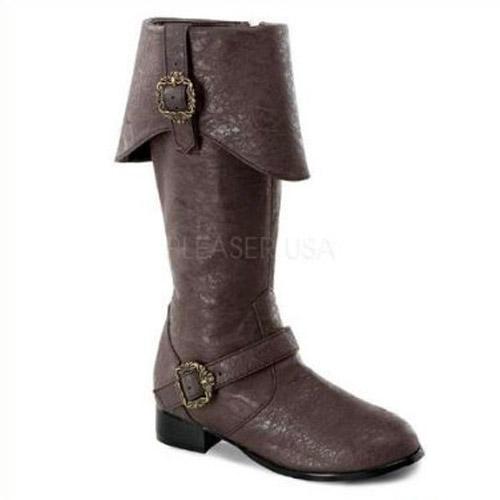 FUNTASMA キッズサイズ/パイレーツブーツ 子供靴 つや消し茶 CARRIBEAN-118-BROWN